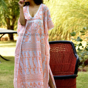 Beachwear Designer Embroidered Poncho Kaftan