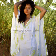 Ladies Beachwear White Poncho Cover Up