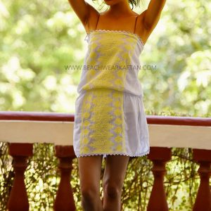 Yellow Embroidered Summers Tunic