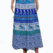 Women's Beach Resortwear Cotton Wrap Long Skirt