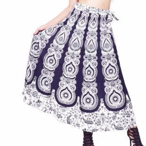 white cotton wrap skirt