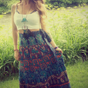 Beachwear Cotton Wrap Around Skirt