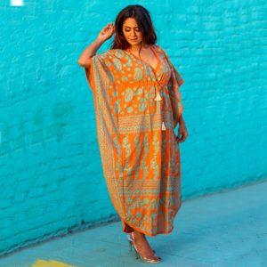 Cotton Long Kaftan