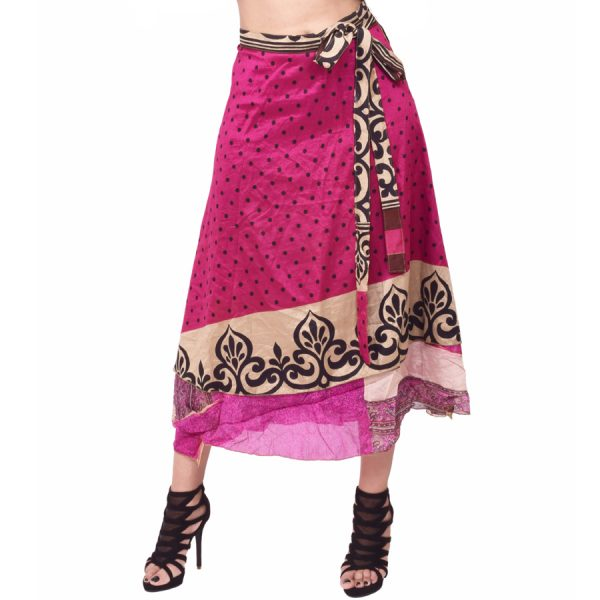 Silk Wrap Skirts From India